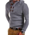Zip Wool Pullovers Long Sleeve Half-Zipper Jumper Knitwear Sweaters