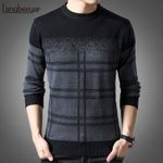 New Fashion Brand Pullovers Thick Slim Fit Jumpers Knitwear Sweaters