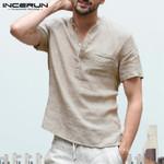 Fashion Casual V Neck Basic Blouse Loose Thin Tops Short Sleeve Shirts