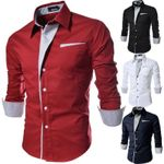 Casual Business Luxury Sleeve Cotton Stylish Dress Shirts