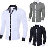 Fashion Personality Casual Slim Dress Shirts