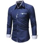 Slim Fit Fashions Turn-Down Button camisa Dress Shirts