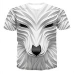 Wolf Head Cool Funny animal fashion casual  street quick-drying fashion T-shirt