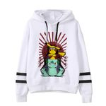 Pokemon Detectiv Pikachu Funny Pika Kawaii Sweatshirt Pullovers Cartoon Hoodies