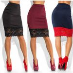 Sexy Formal Stretch High Waist Short Lace  Pencil Skirts