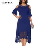 Casual Plus Size Slim Elegant Vintage Sexy Off Shoulder Dresses