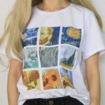 Painting Vintage Tumblr Printed Short Sleeve T-shirts