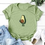 Graphic Fashion Polyester Funny Print Avocado T-shirts