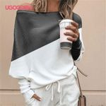 Sleeve Sexy Off Shoulder Shirt Casual Loose Streetwear Blouses