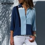 Fashion Long Sleeve Turn Down Collar Office Shirt Leisure Blouse