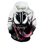 Venom Sweatshirt Superhero Design Pullover Sleeve Streetwear Hoodies