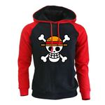 One Piece Luffy Cartoon Print With Cap Anime Harajuke Hoodies