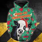 Moo-ry Christmas 3D Hoodie