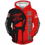 Firefighter 3D Zip Hoodie
