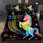 LOVINSUNSHINE Children Bedding Set Single Bedding And Bed Sets Home Textile Unicorn Cartoon Lovely Kids Duvet Cover Set AB#98