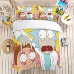 Funny Bedding Set 3PCS Cartoon Character Bed Linen Set Luxury Microfiber Duvet Cover Set Home Textiles Pillowcase
