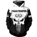 USA Paratrooper Skull 3D Hoodie