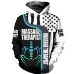 Massage Therapist Flag US American 3D Hoodie