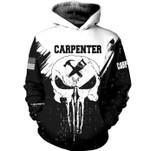 Carpenter Skull US American 3D Hoodie