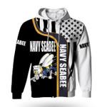Navy Seabee USA Flag Zipper 3D Hoodie