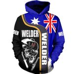 Welder Australia Flag 3D Hoodie