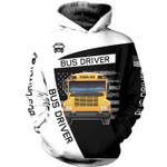 Bus Driver School Bus US American 3D Hoodie