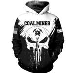 Coal Miner Skull US American 3D Hoodie