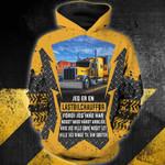 LastbilChauffør 3d hættetrøje