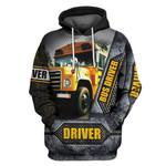 Bus Driver Metal Zipper 3D Hoodie