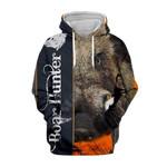 Boar Hunter Print 3d hoodie