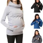 Maternity Sweatshirt Women Nursing Maternity Long Sleeves Hooded Breastfeeding Hoodie Pregnant Women Long Sleeve Hooded Sweater