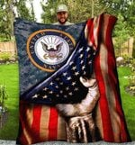 SHERPA FLEECE BLANKET - U.S. NAVY