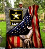 SHERPA FLEECE BLANKET - U.S. ARMY