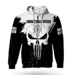 Correctional Officer Skull Life 3D Zip Hoodie