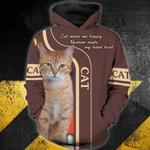 Cat 3D Zip Hoodie