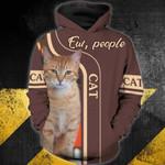 Cat-ew, people 3D Zip Hoodie