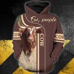 Cow-ew, people 3D Zip Hoodie