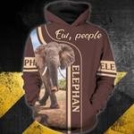 Elephan-ew, people 3D Zip Hoodie