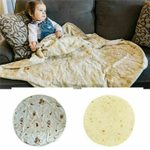 Giant Flour Tortilla Throw Blanket, Novelty Tortilla Blanket for Your Family, Soft and Comfortable Flannel Taco Blanket