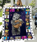 SHERPA FLEECE BLANKET - Baby Yoda