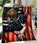 SHERPA FLEECE BLANKET - U.S. MARINE