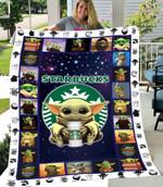SHERPA FLEECE BLANKET - Baby Yoda - Starbucks