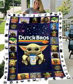 SHERPA FLEECE BLANKET - Baby Yoda - Dutch Bros. Coffee