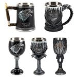 Game of Thrones Mugs - Dragon Iron Throne Tankard Stainless Steel Resin 3D  Beer Tankard - Coffee Cup Wine Glass -Mugs Christmas Gift