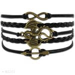 G.O.T Leather Wrap Mens Bracelets for Women