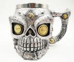New Skull Mug Double Wall Stainless Steel 3D Skull Mugs Coffee Tea Bottle Mug Skull Knight Tankard Drinking Cup