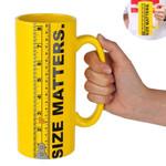 Size Matters Coffee Mug Beer mug Ceramic Ruler Tall Cup 32oz Large Capacity Tea Water Beer Cups and Mugs Creative Drinkware Mark