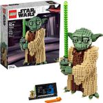Attack of The Clones Yoda 75255 Yoda Building Model and Collectible Minifigure with Lightsaber, New 2019