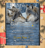 To My Wife Once Upon A Time - Blanket - Wolf