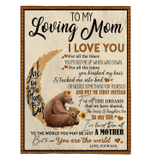 To My Loving Mom I Love You - Blanket - Son's Gift For Mom